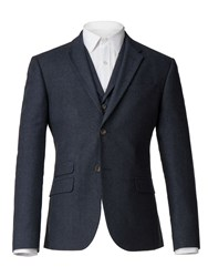 Racing Green Navy Donegal Tailored Jacket Blue