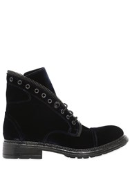 Fru.It 20Mm Zipped Velvet Ankle Boots