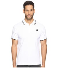 Mcq By Alexander Mcqueen Swallow Polo Optic White Men's Clothing
