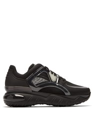 Fendi Chunky Leather Low Top Trainers Black