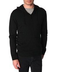 Menlook Label Steph Black Wool Blend Hoody