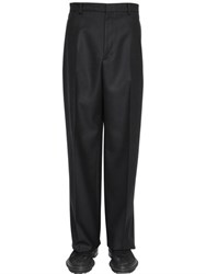 Lanvin 27Cm Wool Twill Wide Leg Pants