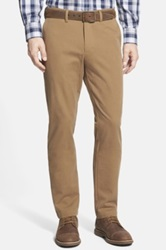 Nordstrom Washed Slim Fit Chinos Brown