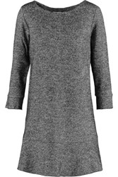 See By Chloe Houndstooth Cotton And Wool Blend Mini Dress Gray