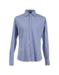 Robert Friedman Long Sleeve Shirts Blue