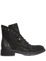 Fru.It 30Mm Glittered Suede Ankle Boots
