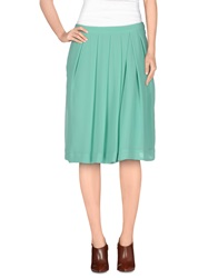 So Nice Knee Length Skirts Light Green