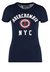 Abercrombie And Fitch Core Print Tshirt Navy Dark Blue