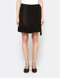 Just Female Coach Suede Skirt In Black