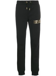 Versace Jeans Couture Printed Logo Track Pants Black