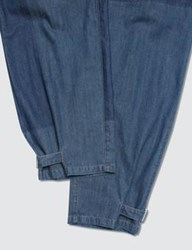 J.W.Anderson Jw Anderson Shaded Fold Front Denim Trousers