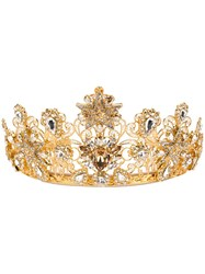 Dolce And Gabbana Embellished Crown Gold