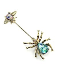 Ben Amun Crystal Spider And Insect Pin Multi