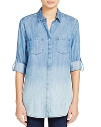 Beachlunchlounge Katalina Ombre Chambray Shirt Ombre Blue