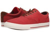 Polo Ralph Lauren Vaughn Rl2000 Red Vintage Burlap Sport Suede Men's Lace Up Casual Shoes