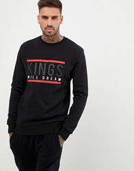 Kings Will Dream Sweatshirt With Chest Logo In Black