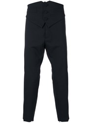 Dsquared2 Cummerbund Tuxedo Trousers Spandex Elastane Virgin Wool Black