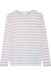 Chinti And Parker Striped Cashmere Sweater Pastel Pink