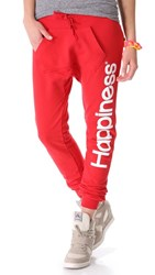 Happiness Sweatpants Red