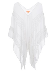 Lipsy Lace Tassel Long Michelle Keegan Coverup White