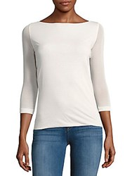 Akris Solid Cotton And Silk Blend Top Tan