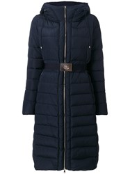 Moncler Iman Padded Coat Women Polyamide Polyester Feather Goose Down 3 Blue