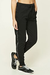 Forever 21 Active Get Moving Sweatpants Black White
