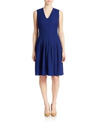 Anne Klein Pleated A Line Dress Ultramarine