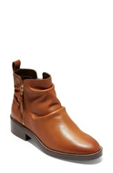 Cole Haan Harrington Grand Slouch Bootie British Tan Leather