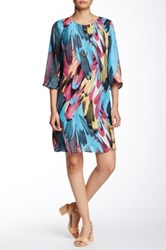 Daniel Rainn Abstract A Line Shift Dress Black