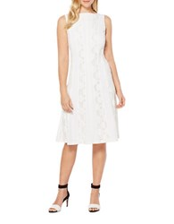 Rafaella Solid Crepe Dress White
