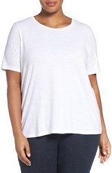 Eileen Fisher Plus Size Women's Slub Cotton Jersey Tee