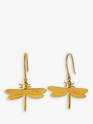 Alex Monroe Dragonfly Hook Drop Earrings Gold