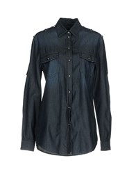 Trussardi Jeans Denim Shirts Blue
