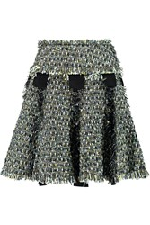 Lanvin Metallic Tweed Mini Skirt Black