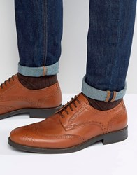Selected Homme Oliver Brogue Shoes Tan