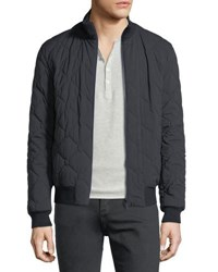 Zegna Sport Techmerino Reversible Quilted Bomber Jacket Dark Blue