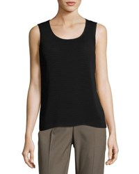 Lafayette 148 New York Cleo Sleeveless Pintuck Blouse Black