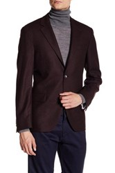 Ike Behar Red Double Button Notched Lapel Jacket