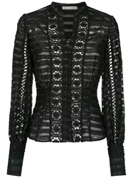Martha Medeiros Long Sleeved Top Black