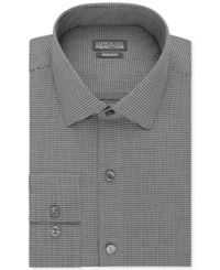 Kenneth Cole Reaction Slim Fit Performance Micro Check Dress Shirt Black