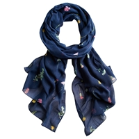 Joules Wensley French Scarf Navy
