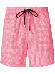 Drumohr Diamond Print Swim Shorts Red