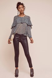 Anthropologie Ag Leatherette Low Rise Legging Ankle Jeans Carbon