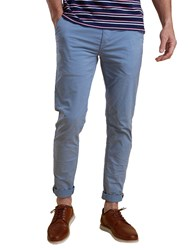 Barbour Neuston Stretch Twill Slim Fit Chinos Blue