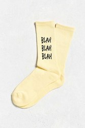 Urban Outfitters Blah Sport Sock Bright Yellow
