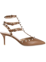Valentino Garavani 'Rockstud' Pumps Brown