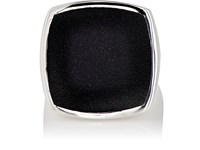 Tom Wood Women's Flush Signet Ring Silver