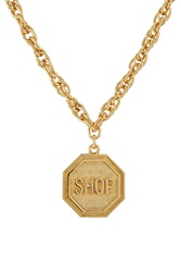 Moschino Statement Necklace Gold