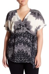 Tart Ann Print Blouse Plus Size Black